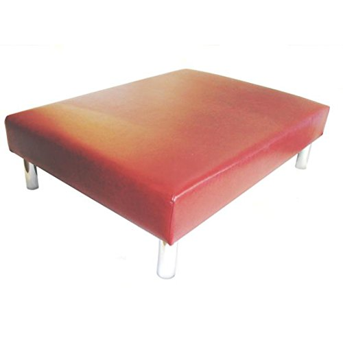 Footstools2u Hand Made Luxus gross Fusshocker/Couchtisch gepolsterten in a Alter Rotwein Leder – 101,6 x 76,2 x 33 cm High