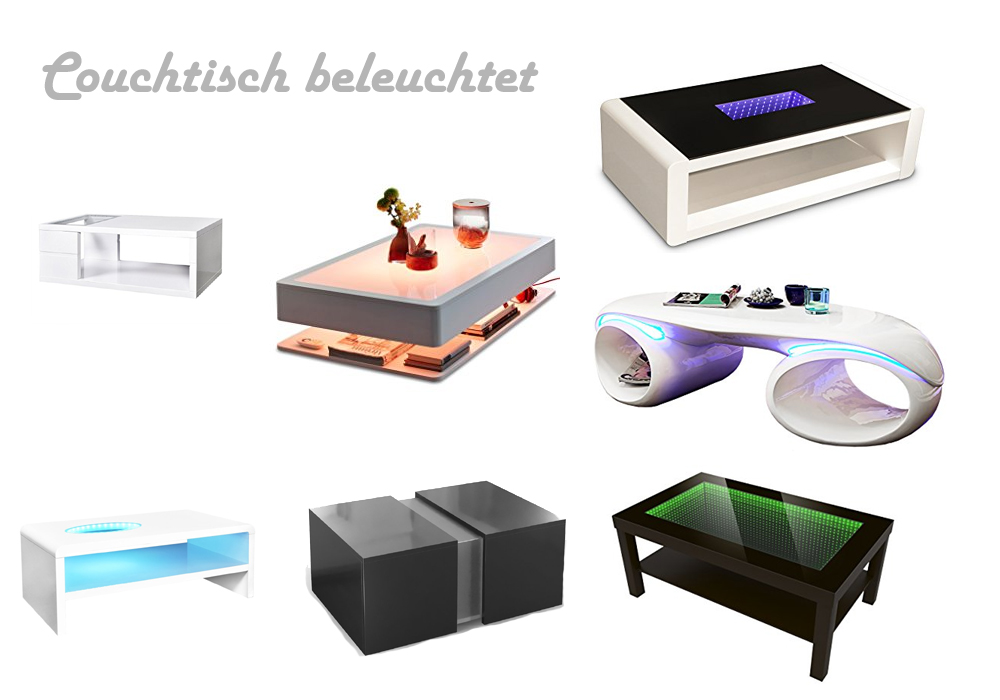couchtisch beleuchtet mit led. Black Bedroom Furniture Sets. Home Design Ideas